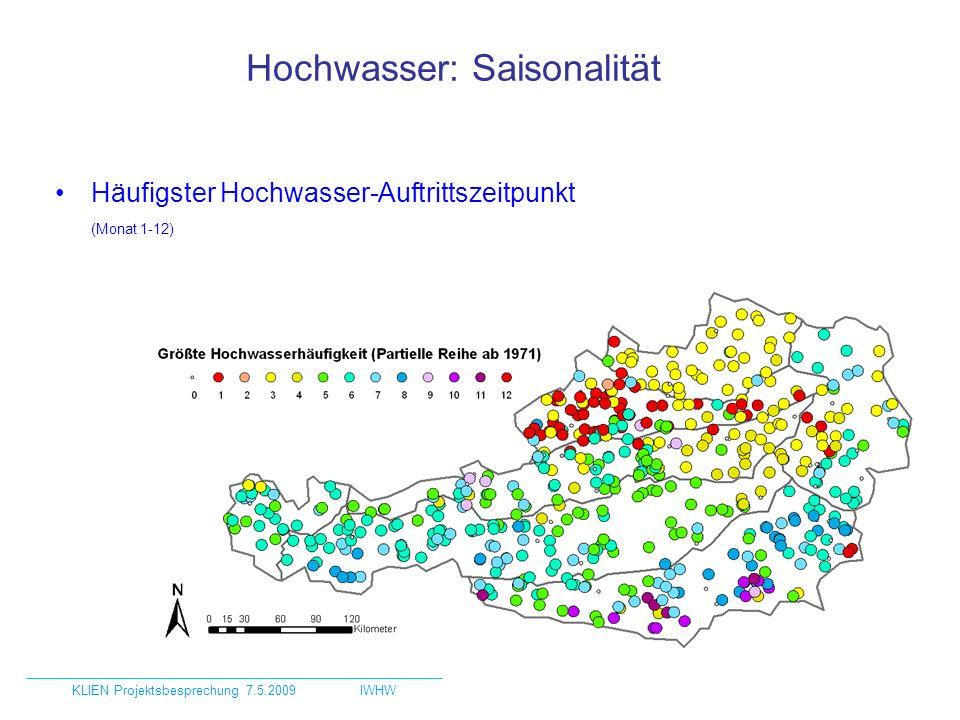 Hochwasser: Saisonalität