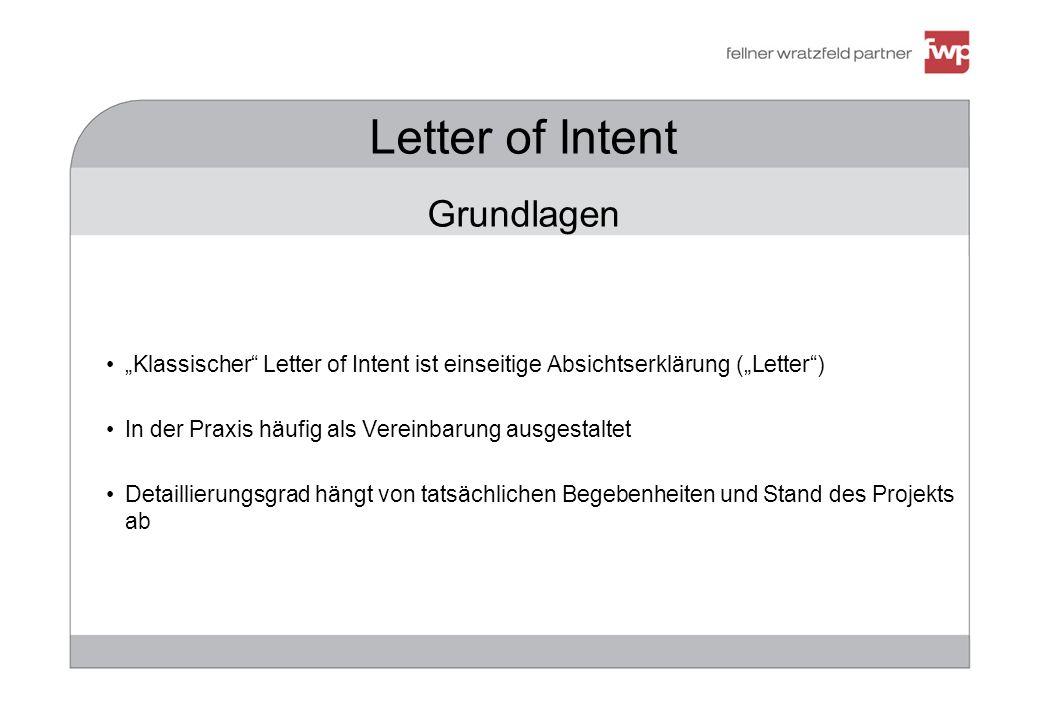 Letter of Intent Grundlagen