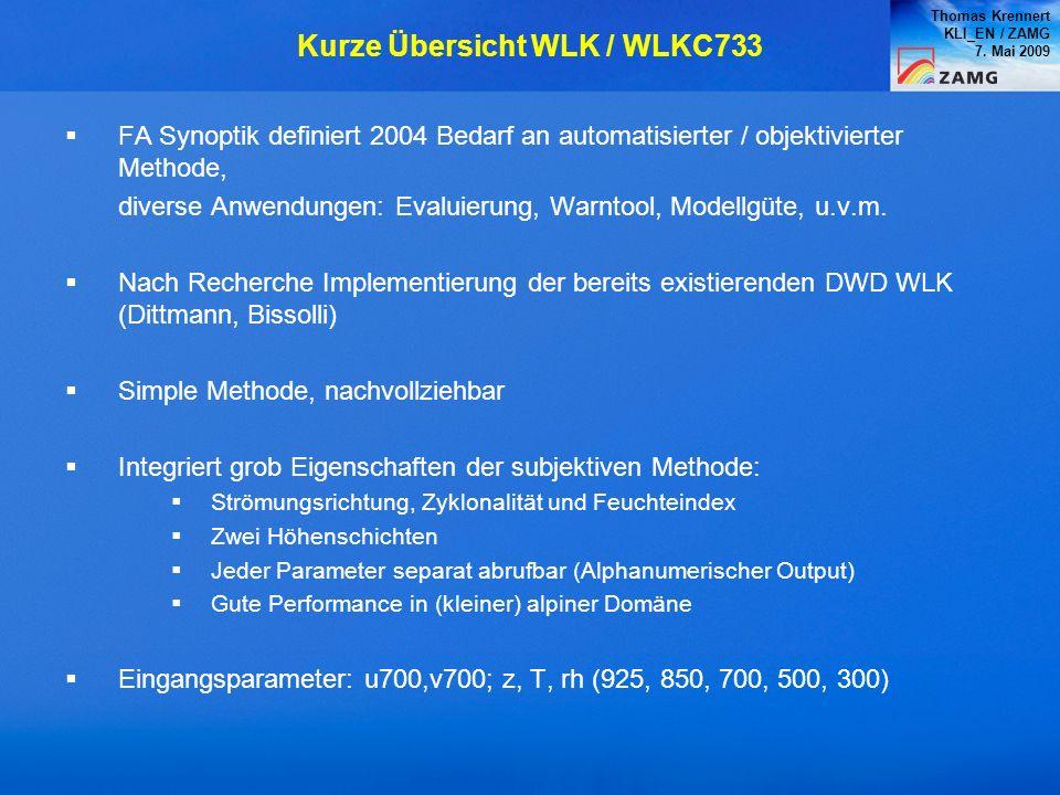 Kurze Übersicht WLK / WLKC733