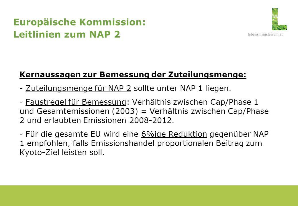 Europäische Kommission: Leitlinien zum NAP 2
