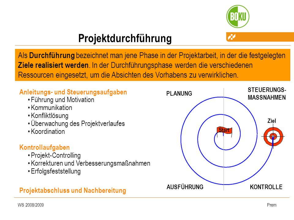 Projektdurchführung