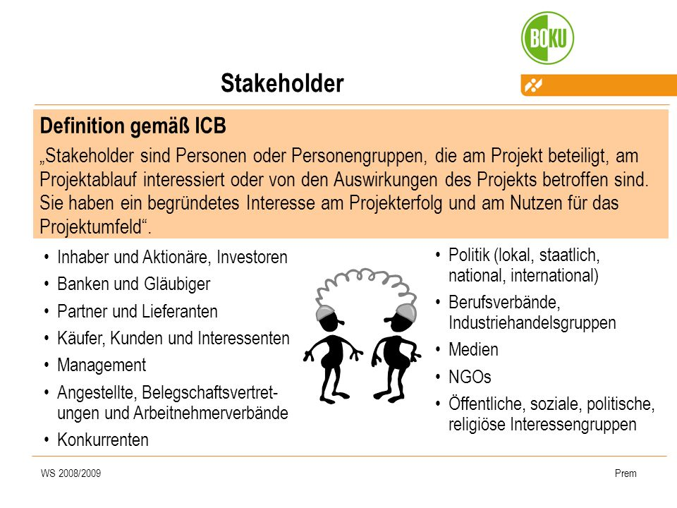 Stakeholder Definition gemäß ICB