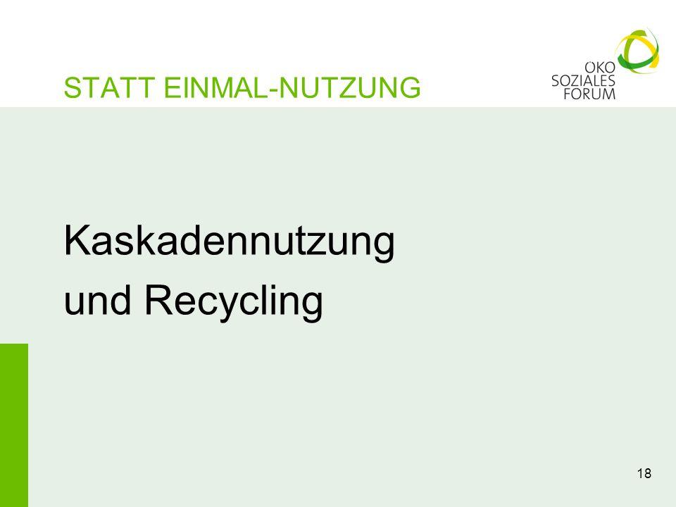 Kaskadennutzung und Recycling