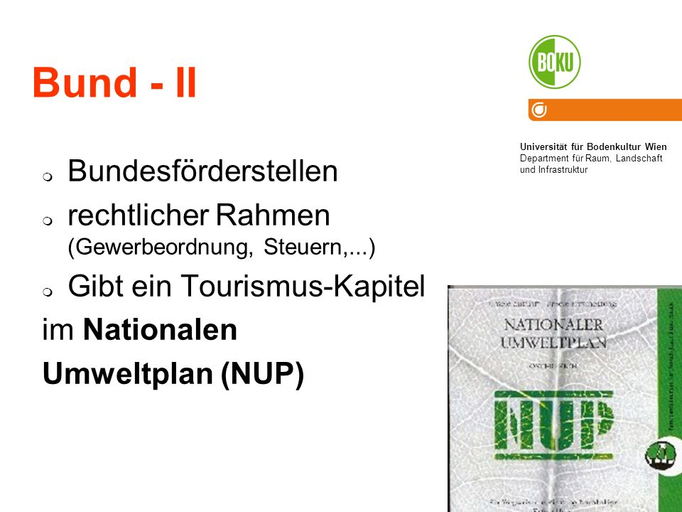Bund - II Bundesförderstellen