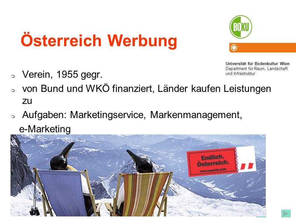 Österreich Werbung Verein, 1955 gegr.