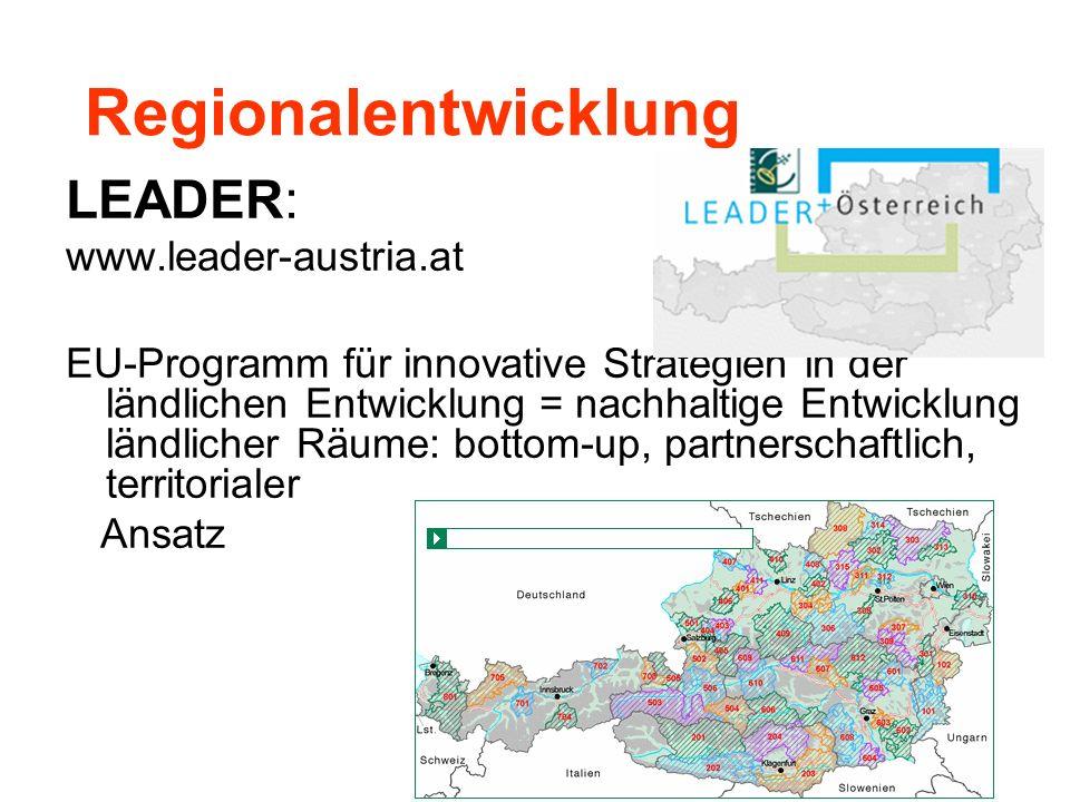 Regionalentwicklung LEADER: www.leader-austria.at