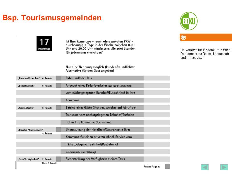 Bsp. Tourismusgemeinden