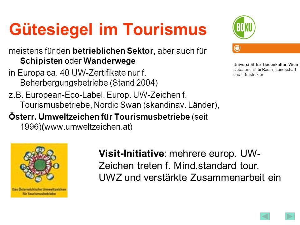 Gütesiegel im Tourismus
