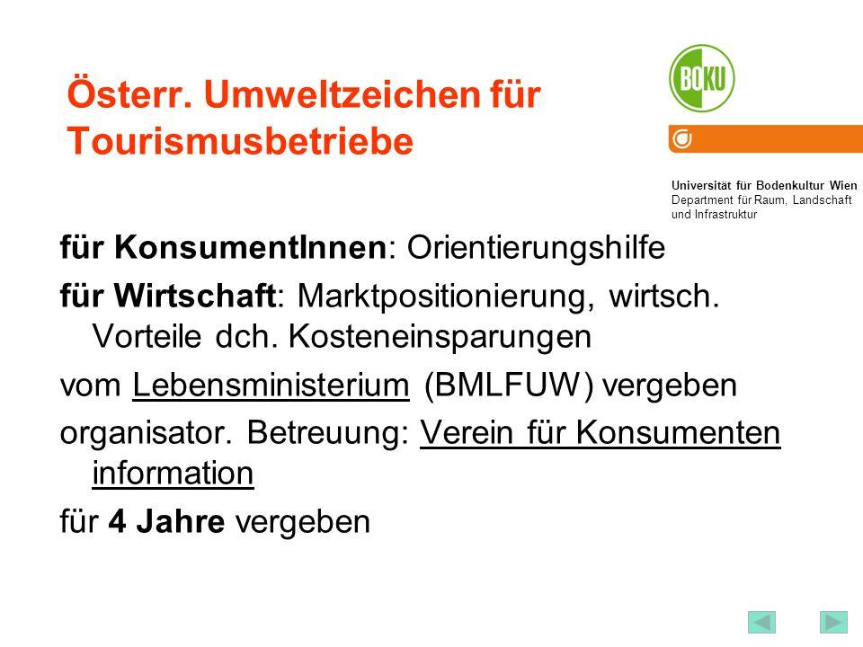 Österr. Umweltzeichen für Tourismusbetriebe