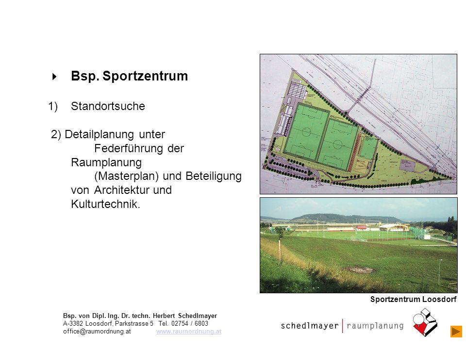 Bsp. Sportzentrum Standortsuche