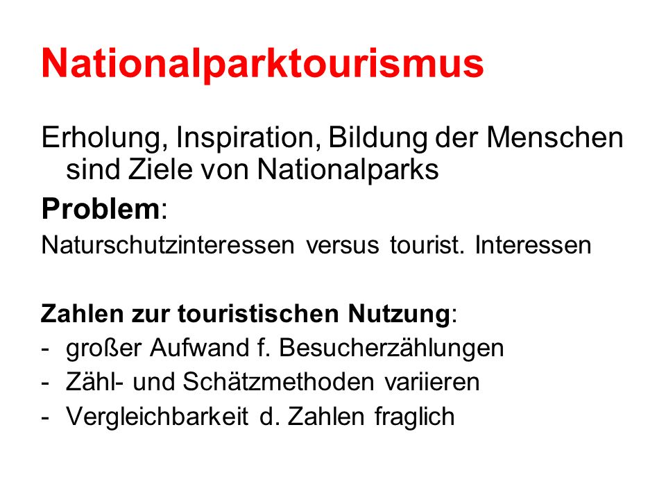 Nationalparktourismus