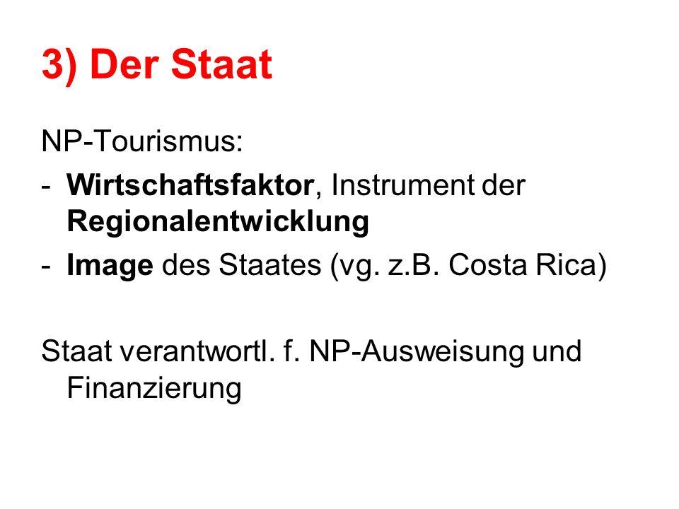 3) Der Staat NP-Tourismus:
