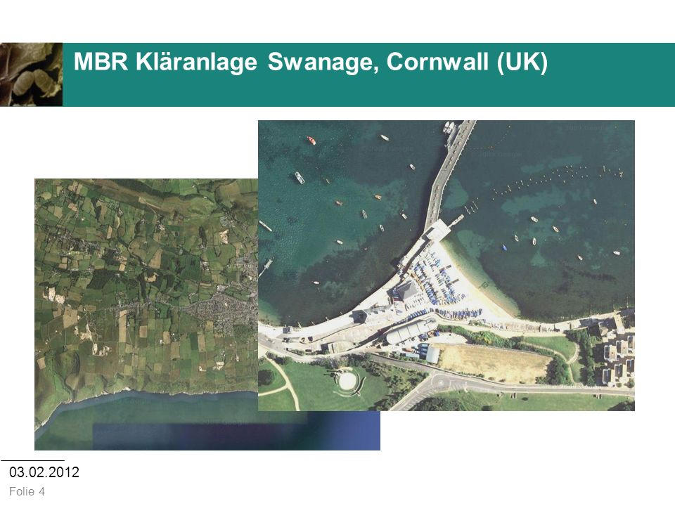 MBR Kläranlage Swanage, Cornwall (UK)