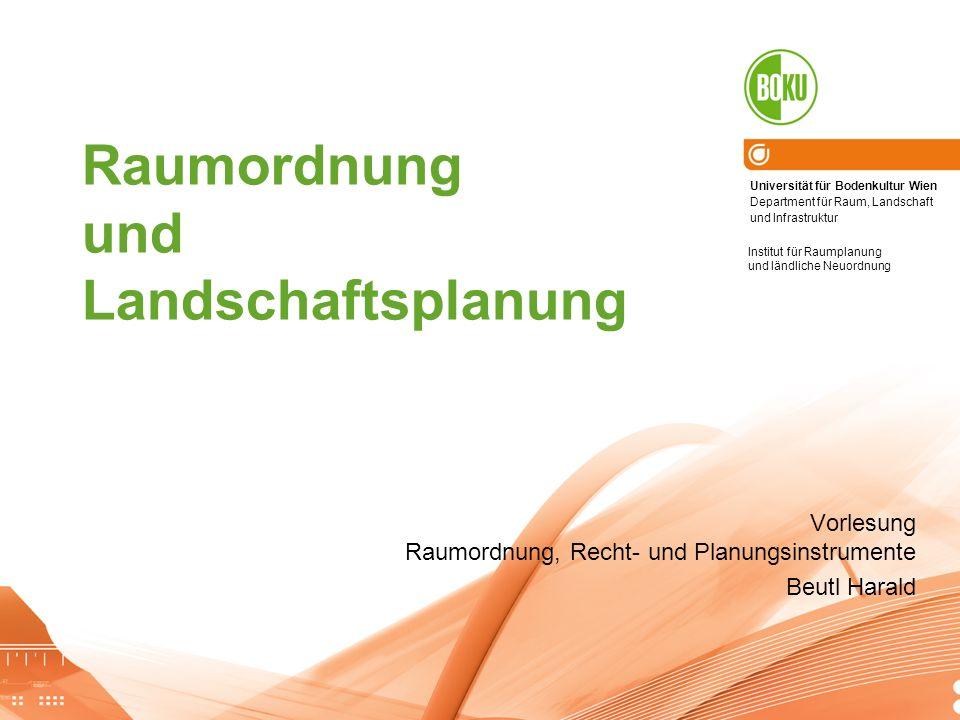 Flächenverbrauch in Österreich Nutzungskonflikte