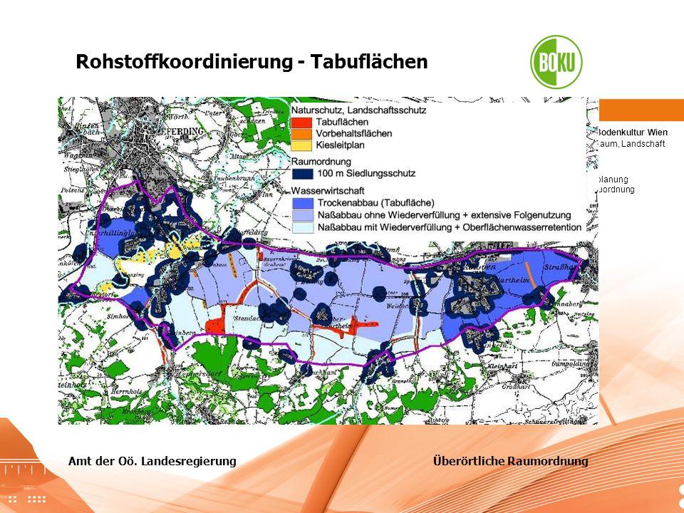 Tabuzonen + Korridore Amt der Oö. Landesregierung Überörtliche Raumordnung