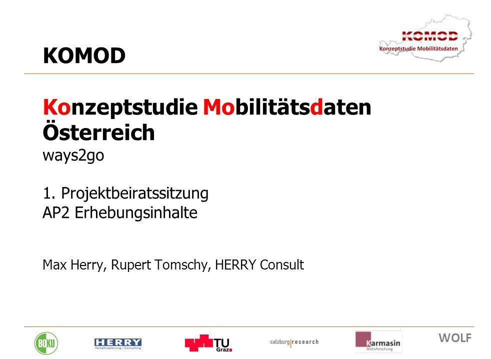 KOMOD Konzeptstudie Mobilitätsdaten Österreich ways2go 1
