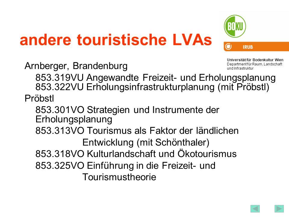 andere touristische LVAs