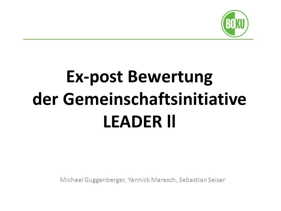 Ex-post Bewertung der Gemeinschaftsinitiative LEADER ll