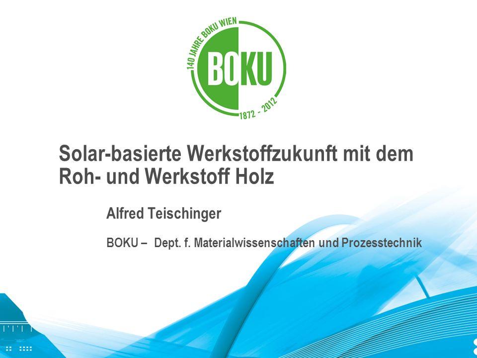 Solar-basierte Werkstoffzukunft mit dem Roh- und Werkstoff Holz