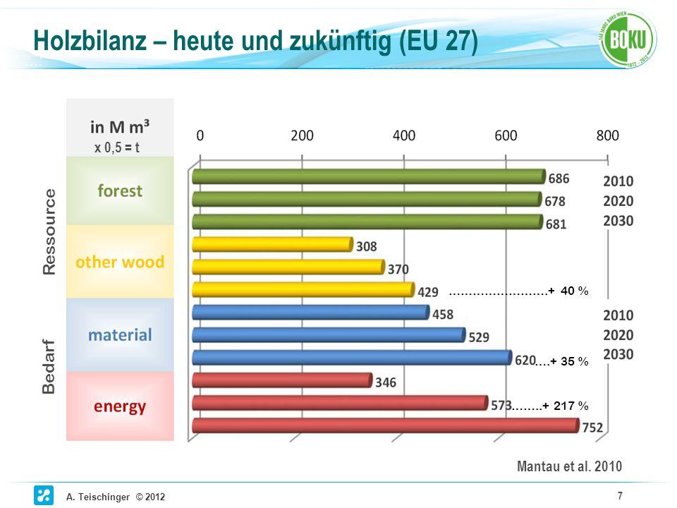 Holzbilanz – heute und zukünftig (EU 27)