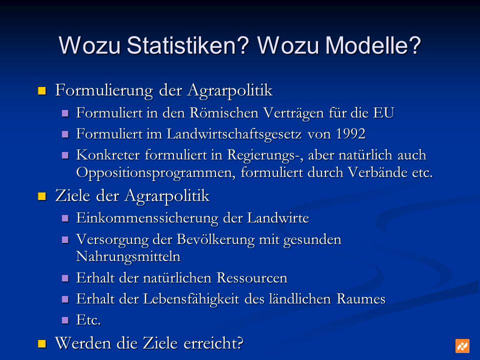 Wozu Statistiken Wozu Modelle