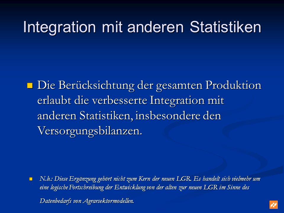Integration mit anderen Statistiken
