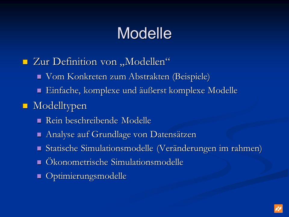 """Modelle Zur Definition von """"Modellen Modelltypen"""