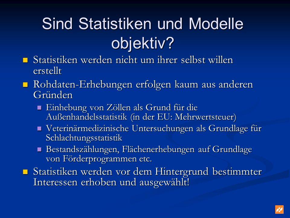 Sind Statistiken und Modelle objektiv