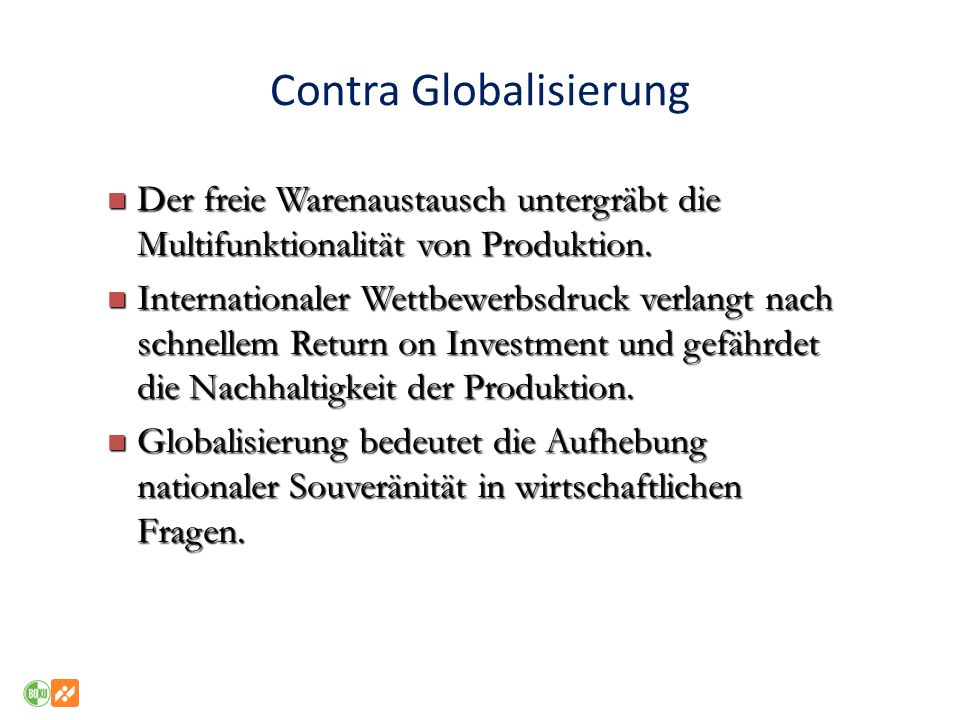 Contra Globalisierung