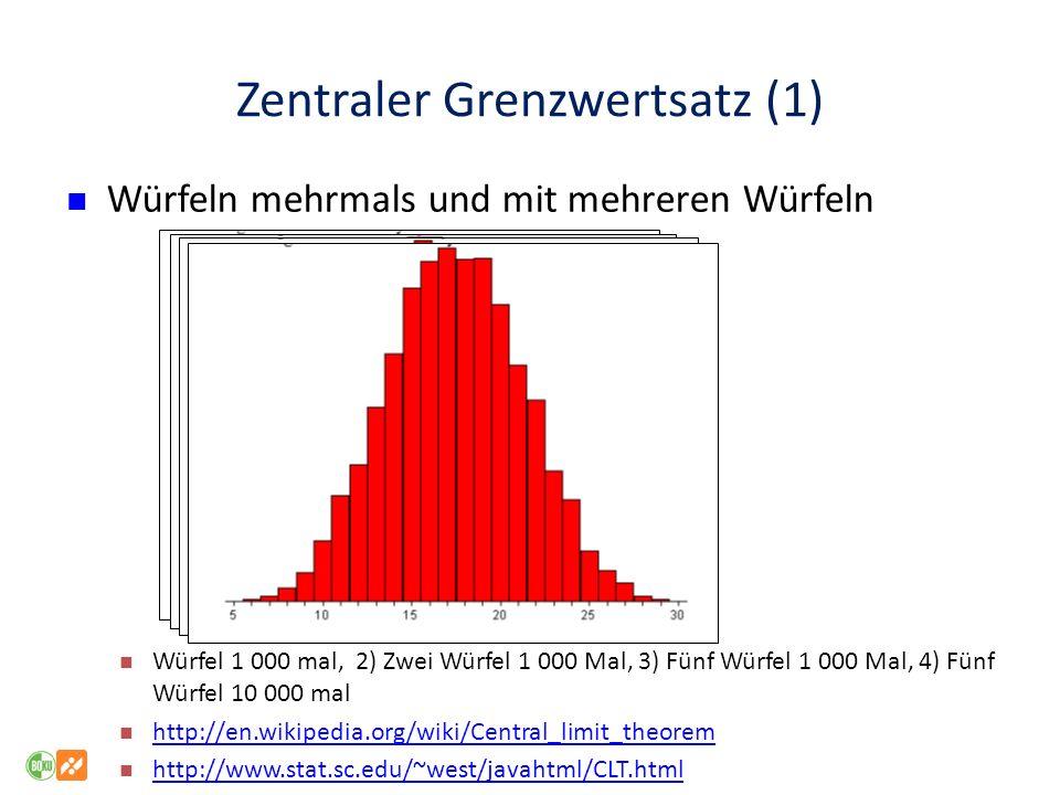 Zentraler Grenzwertsatz (1)