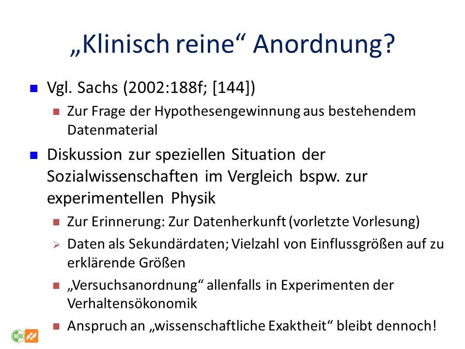 """""""Klinisch reine Anordnung"""