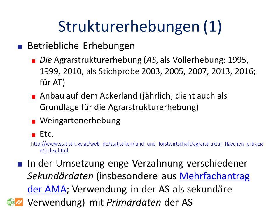 Strukturerhebungen (1)