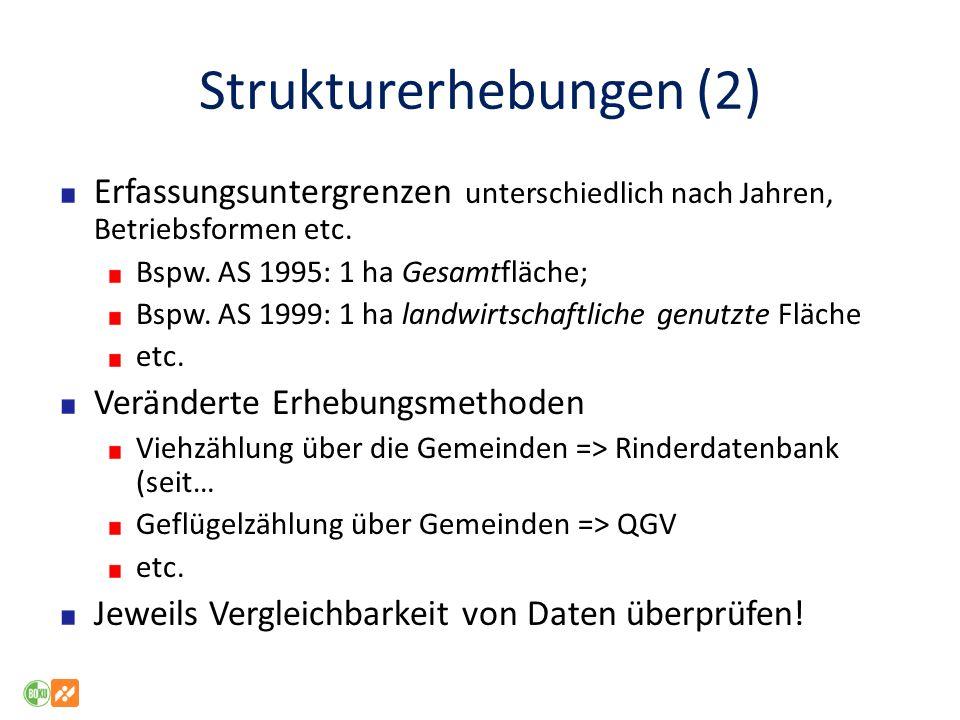 Strukturerhebungen (2)