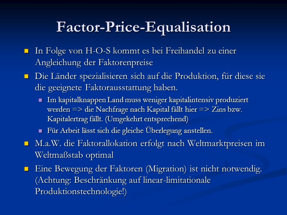 Factor-Price-Equalisation