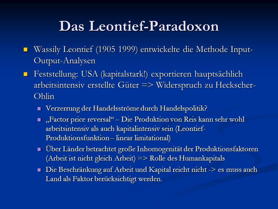 Das Leontief-Paradoxon