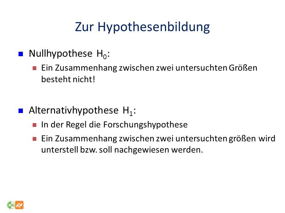 Zur Hypothesenbildung