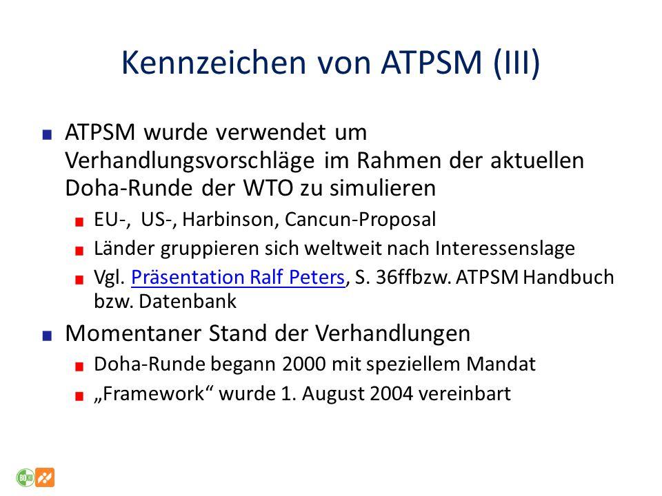 Kennzeichen von ATPSM (III)