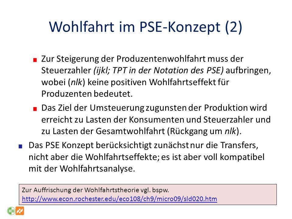 Wohlfahrt im PSE-Konzept (2)