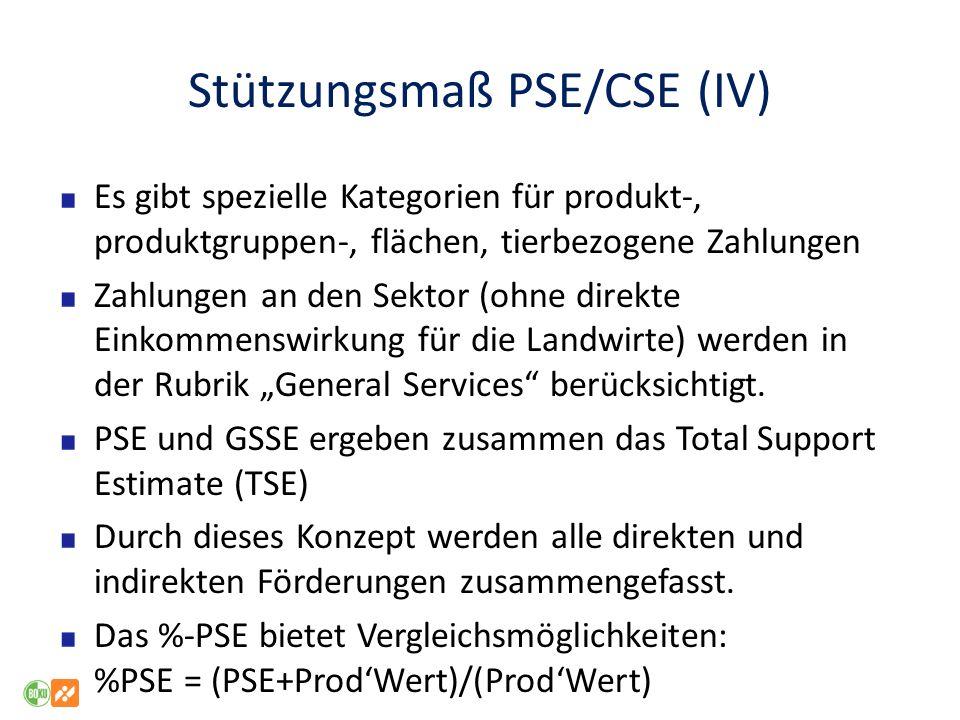 Stützungsmaß PSE/CSE (IV)