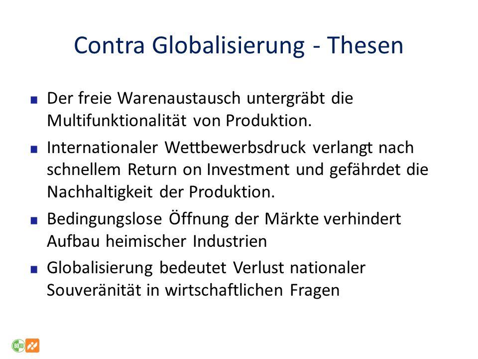 Contra Globalisierung - Thesen