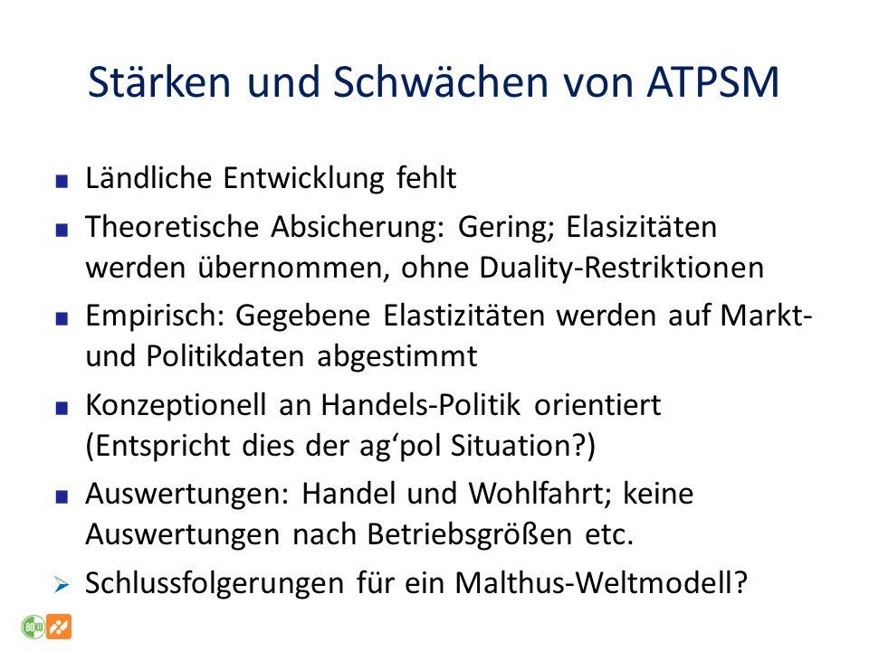 Stärken und Schwächen von ATPSM