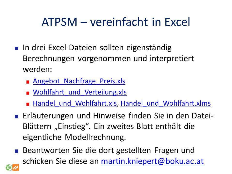 ATPSM – vereinfacht in Excel