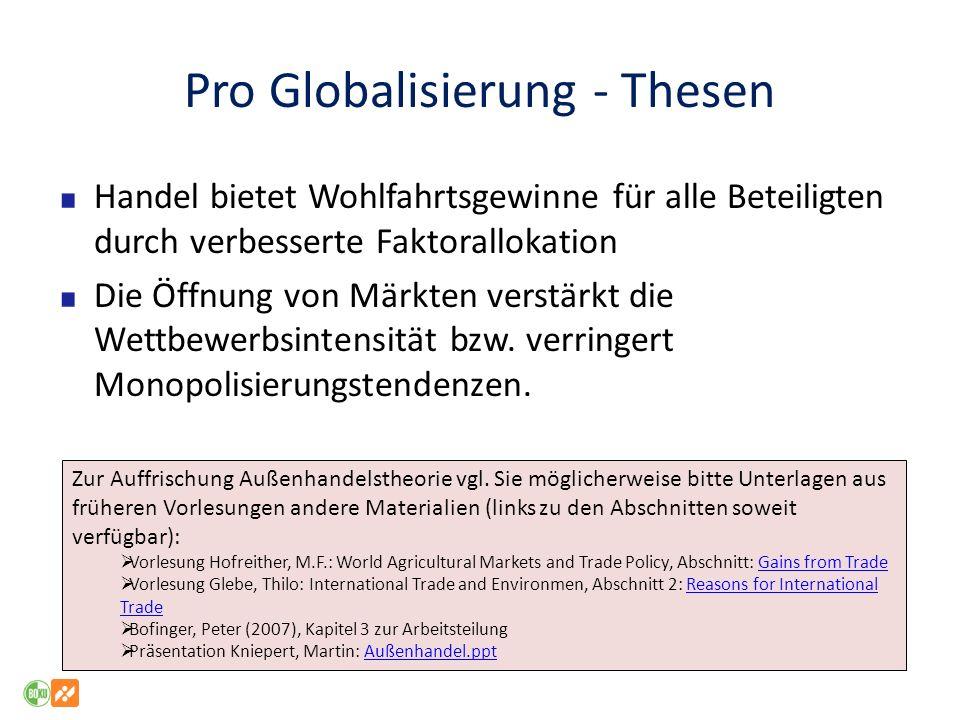 Pro Globalisierung - Thesen