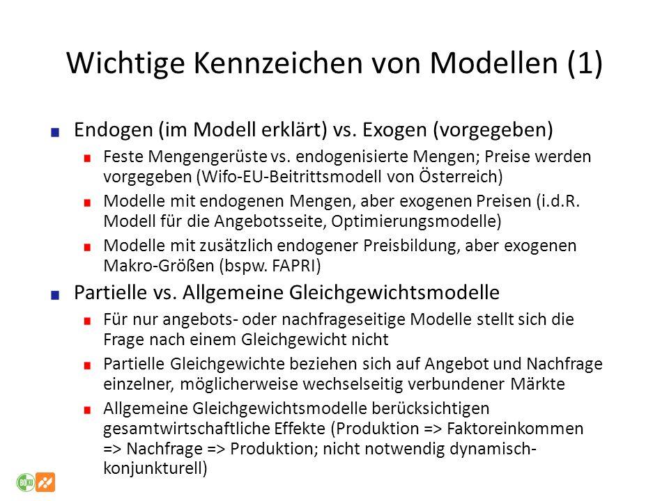 Wichtige Kennzeichen von Modellen (1)