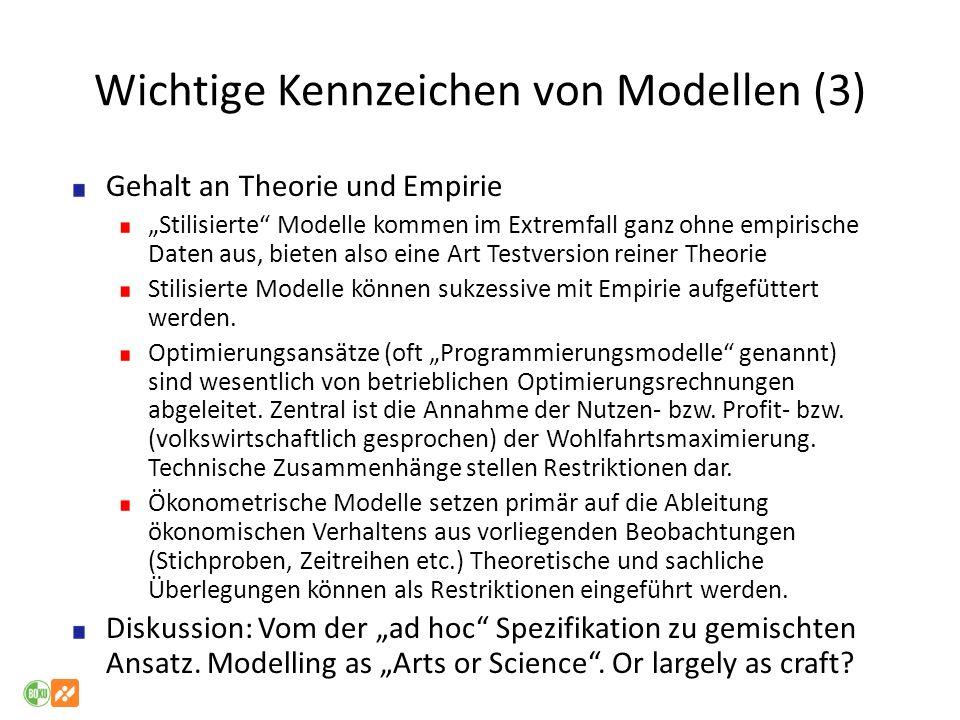 Wichtige Kennzeichen von Modellen (3)
