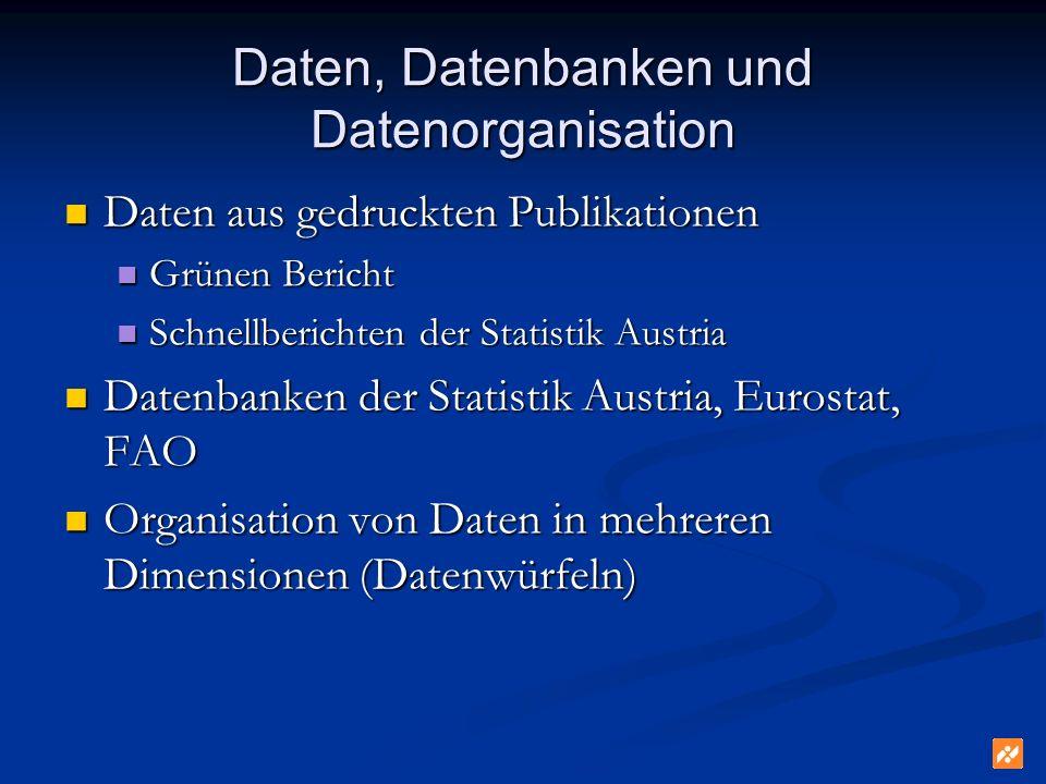 Daten, Datenbanken und Datenorganisation