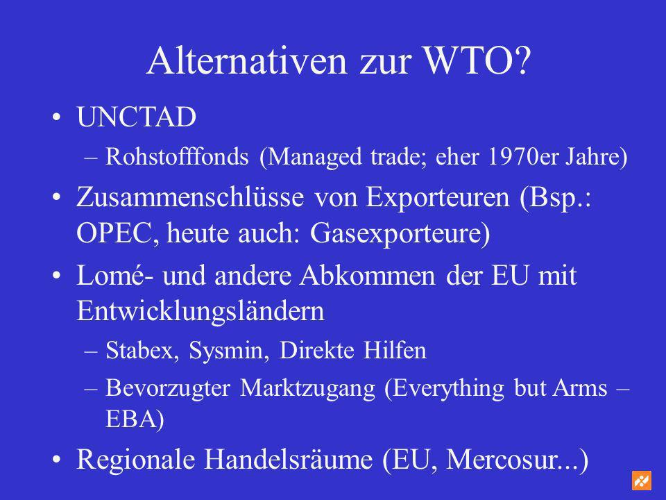 Alternativen zur WTO UNCTAD