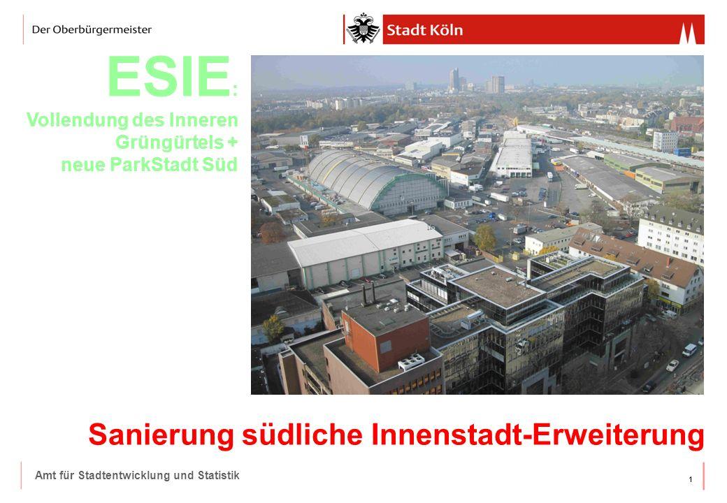 ESIE: Vollendung des Inneren Grüngürtels + neue ParkStadt Süd