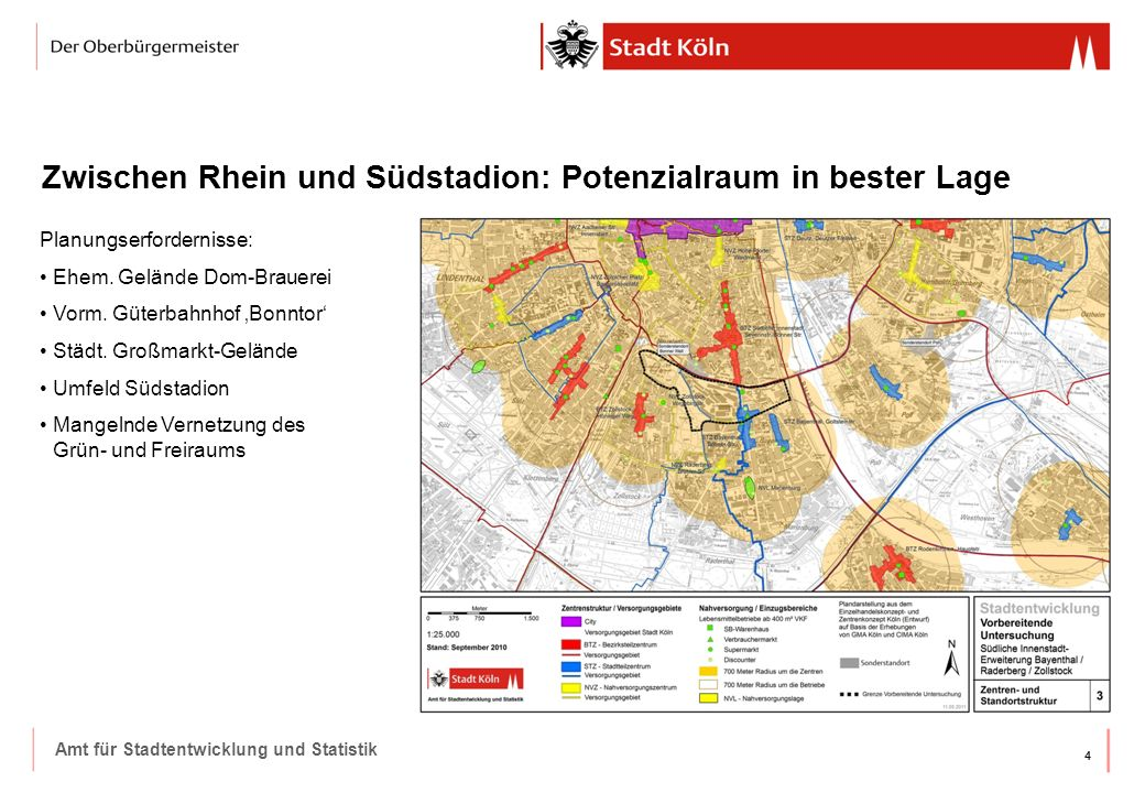 Zwischen Rhein und Südstadion: Potenzialraum in bester Lage