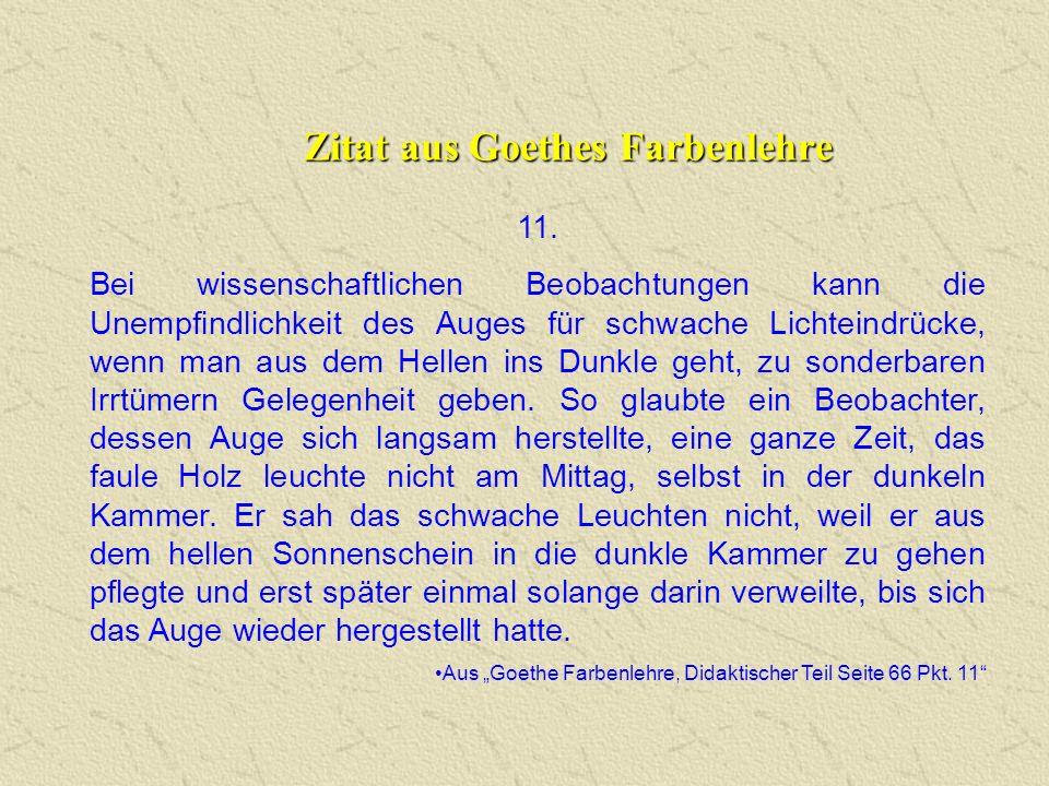 Zitat aus Goethes Farbenlehre